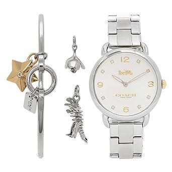 44f424d2cd82 Amazon | [コーチ] 腕時計 レディース COACH 14000056 ホワイト シルバー ...