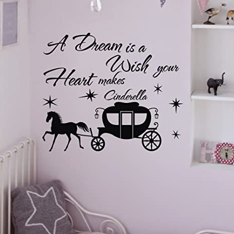 A dream is a wish your heart makes Vinyl Wall Decal