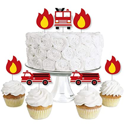 Amazon.com: Fired Up Fire Truck – Decoración para cupcakes ...