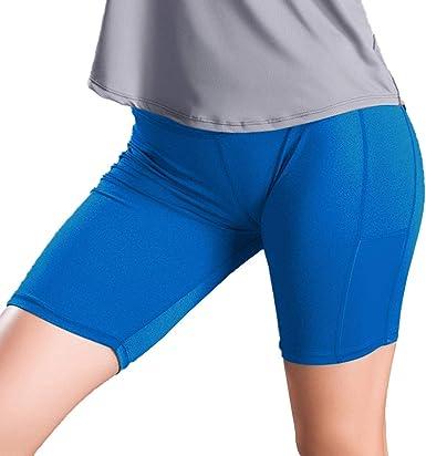 Leggins cortos mujer fitness push up cintura alta Leggins ...