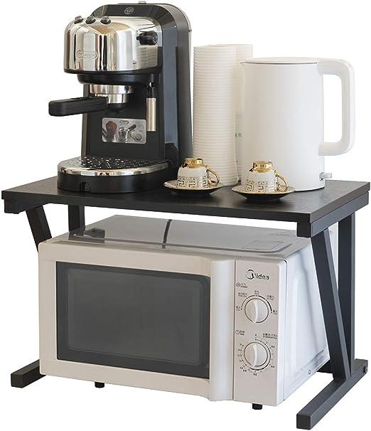 2 Capas de Hierro y Acero Leñoso del Sostén de la mesa de Cocina Para Horno de Microondas y Aprador y Estante de Impresa: Amazon.es: Hogar