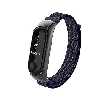 Beetest A Pulsera Xiaomi Mi Band 3 Correa de Reloj Elegante Reemplazo de Bandas para Mi Band 3-Lienzo de Bucle de Moda(Azul): Amazon.es: Deportes y aire ...