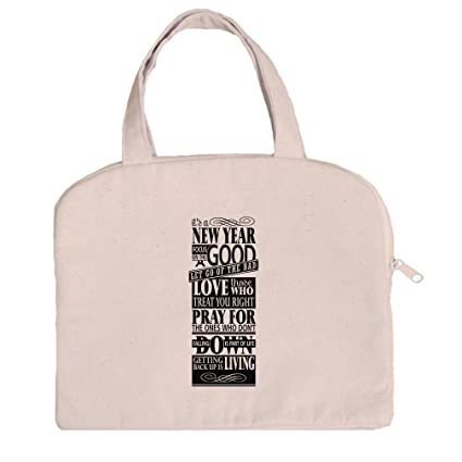 96637347fcd7 Amazon.com  Tablet Bag Case Canvas Handles It S New Year Focus On ...
