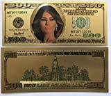 Aizics Mint 500 First Lady Melania Trump 24kt Gold Plated Commemorative Bank Note Collectors Item