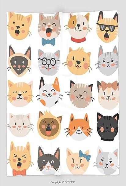 Custom manta gatos Jefes emoticonos Vector 527382235 y cómodo