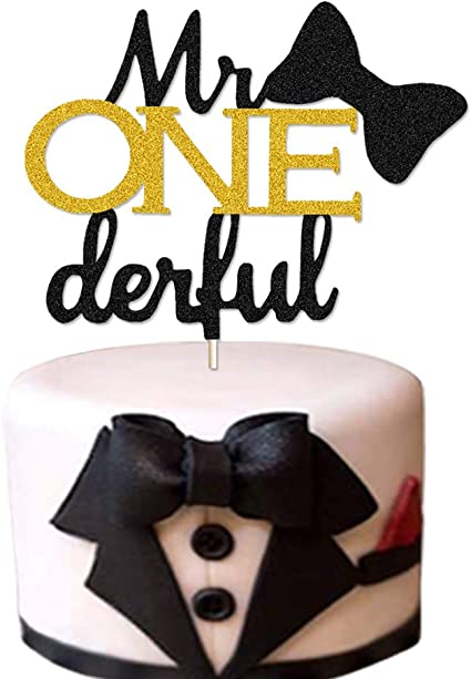 navy and gold bow tie birthday BIRTHDAY CANDLE i am one MR Onederful theme cake topper first birthday