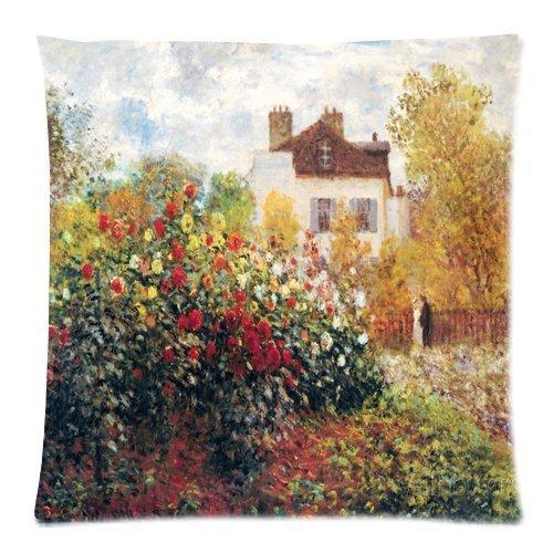 Claude Monet Claude Monet The Artist S Garden Art Custom Zippered Decorative Throw Pillow Cases for Couch 18 x 18 Inches
