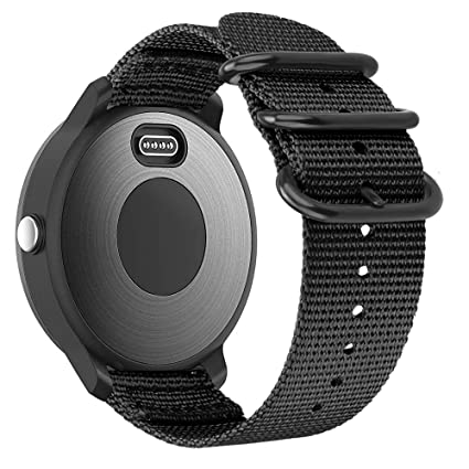 Fintie for Garmin Vivoactive 3, Forerunner 245 Band, 20mm Soft Woven Nylon Replacement Strap with Metal Buckle Compatible Vivoactive 3 Music, Vívomove ...