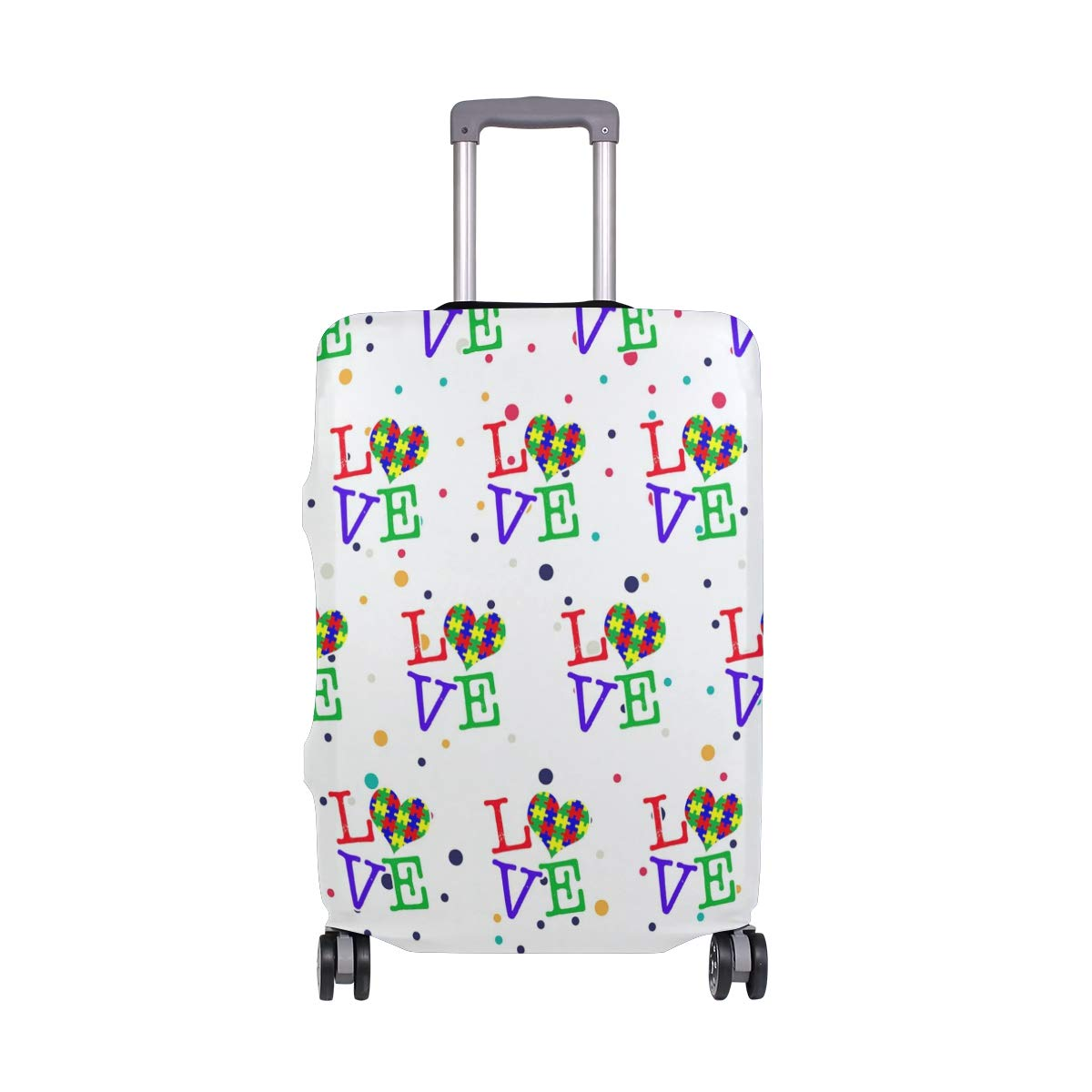 Love Heart Travel Luggage Cover - Suitcase Protector HLive Spandex Dust Proof Covers with Zipper, Fits 18-32 inch