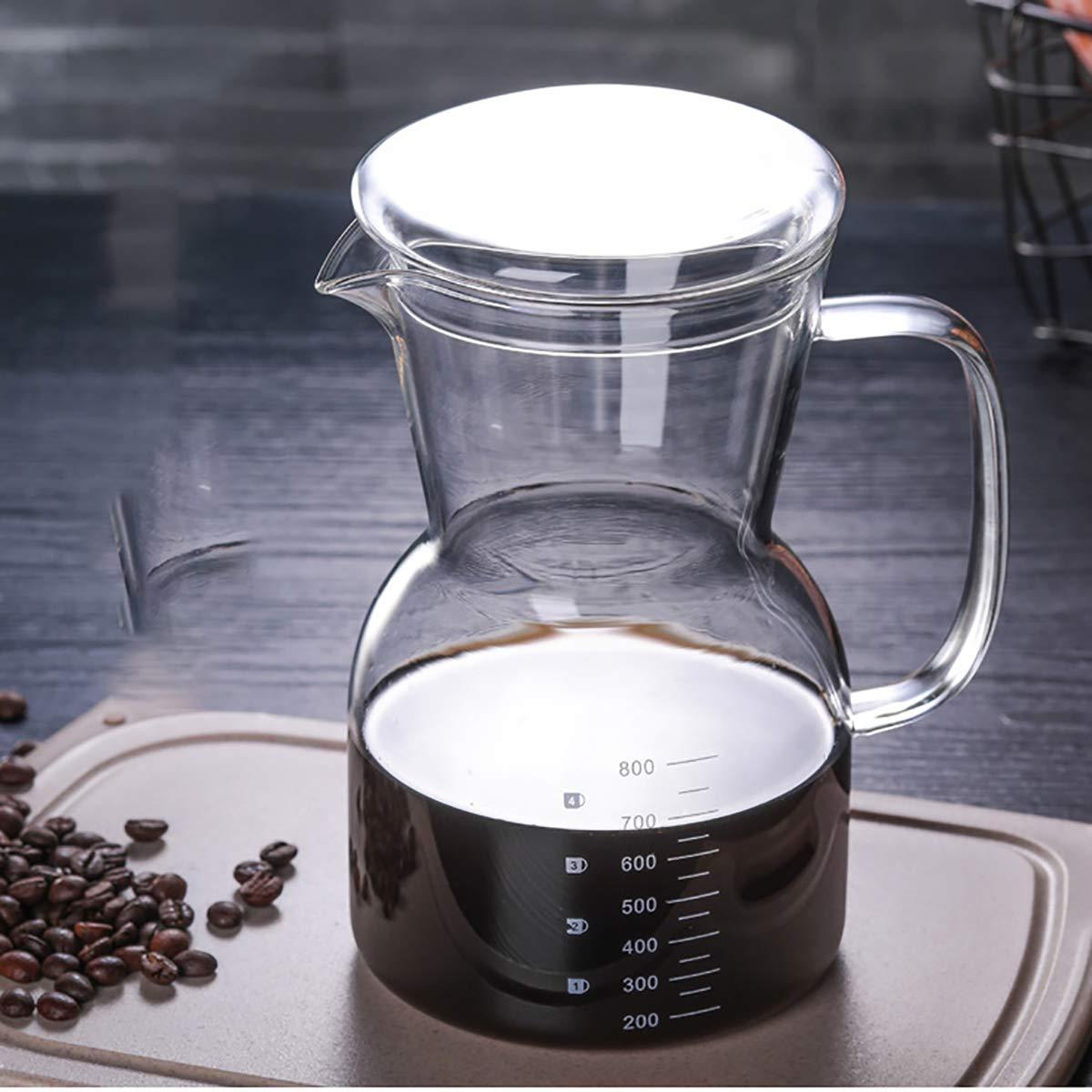 Acquisto Fad-J Caffettiera in Vetro, Resistente alle Alte Temperature Caffettiera in Vetro Borosilicato, Caffettiera A Mano Coffee Pot (800Ml) Prezzi offerta