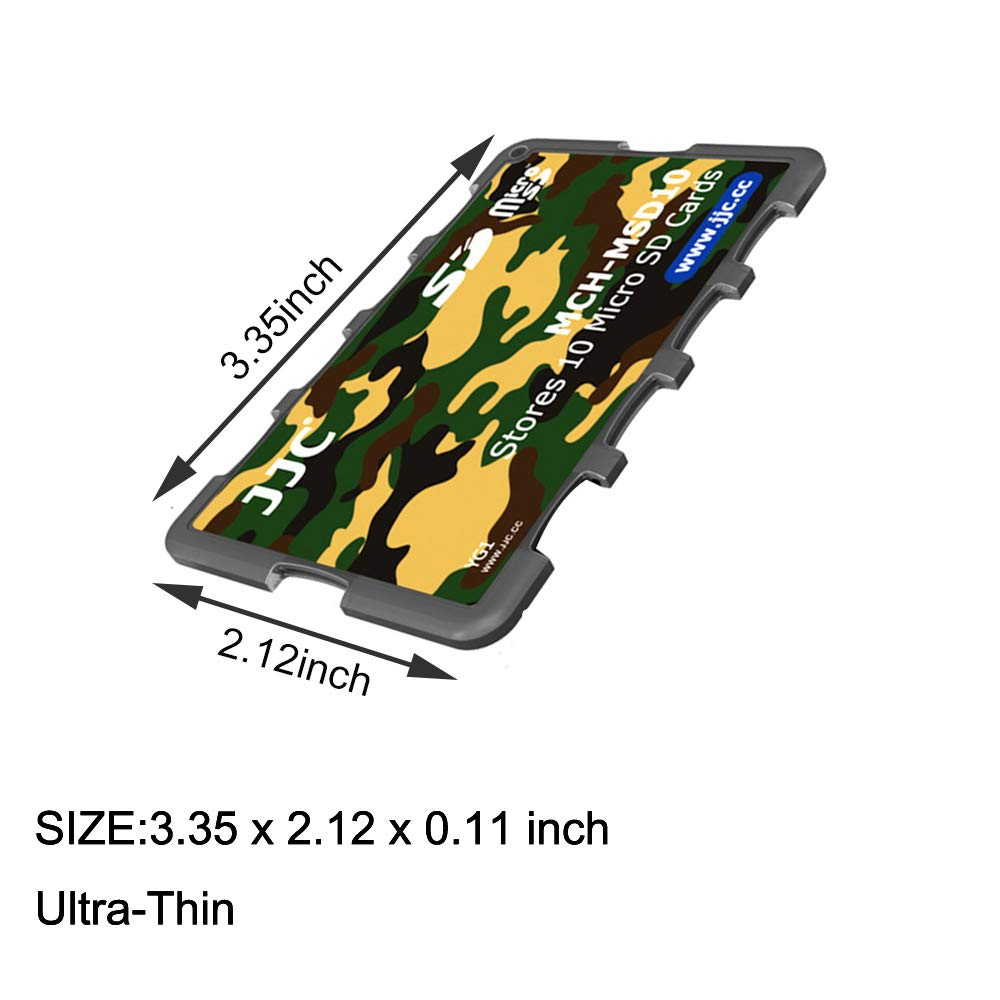 Ultra Slim Credit Card Size Lightweight Portable Micro SD Memory Card Storage 10 Slots Micro SD Card Case Holder