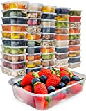 #10: [50 pack, 17oz] Food Storage Containers With Lids - Plastic Containers With Lids Plastic Containers for Food Container With Lid - Freezer Containers Plastic Food Containers Deli Containers Meal Prep