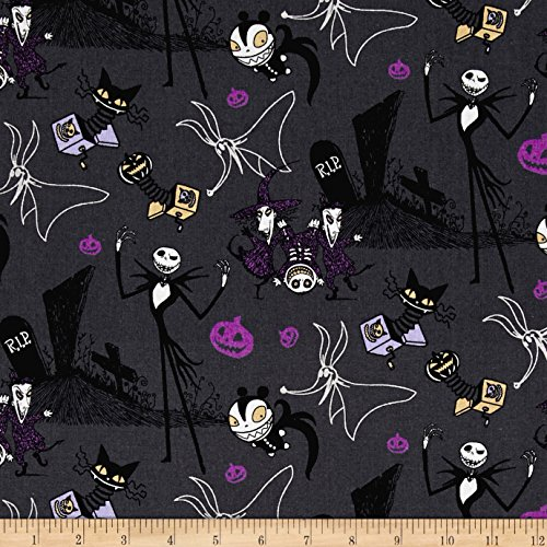 disney-nightmare-before-christmas-jack-in-the-boxes-gray-fabric-by-the-yard