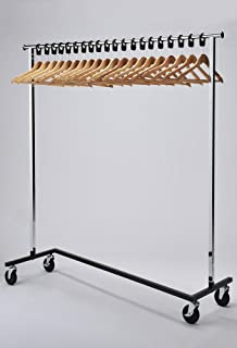 office coat rack. RACK52 Mobile Chrome Coat Stand. Office Rack With Wood Hangers
