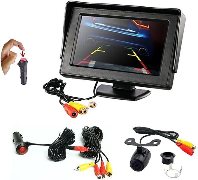 Rearmaster 4 3 Zoll Lcd Auto Monitor Und Rückfahrkamera Elektronik