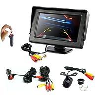 REARMASTER 4.3 Zoll LCD Auto Monitor und Rückfahrkamera Kit mit 12V RCA Video Kabel & Stromkabel, Eingebauten Ein/aus-fußSchalter im KFZ-Zigarettenanzünder