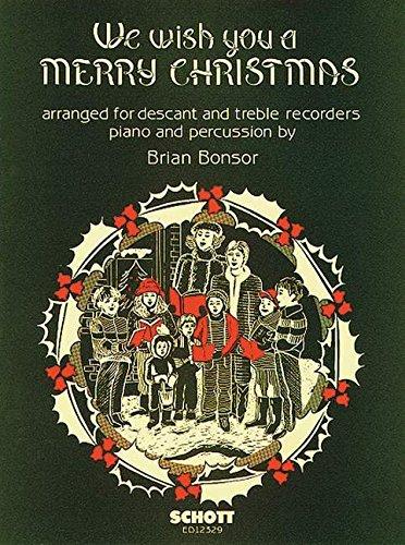 We wish you a Merry Christmas - soprano- et flûte à bec alto, batterie et piano - Partition - ED 12329