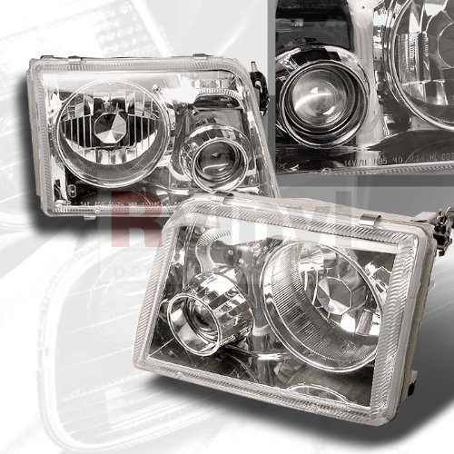 (1993-97 Ford Ranger Chrome Projector Headlights 93 94 95 96 97 )