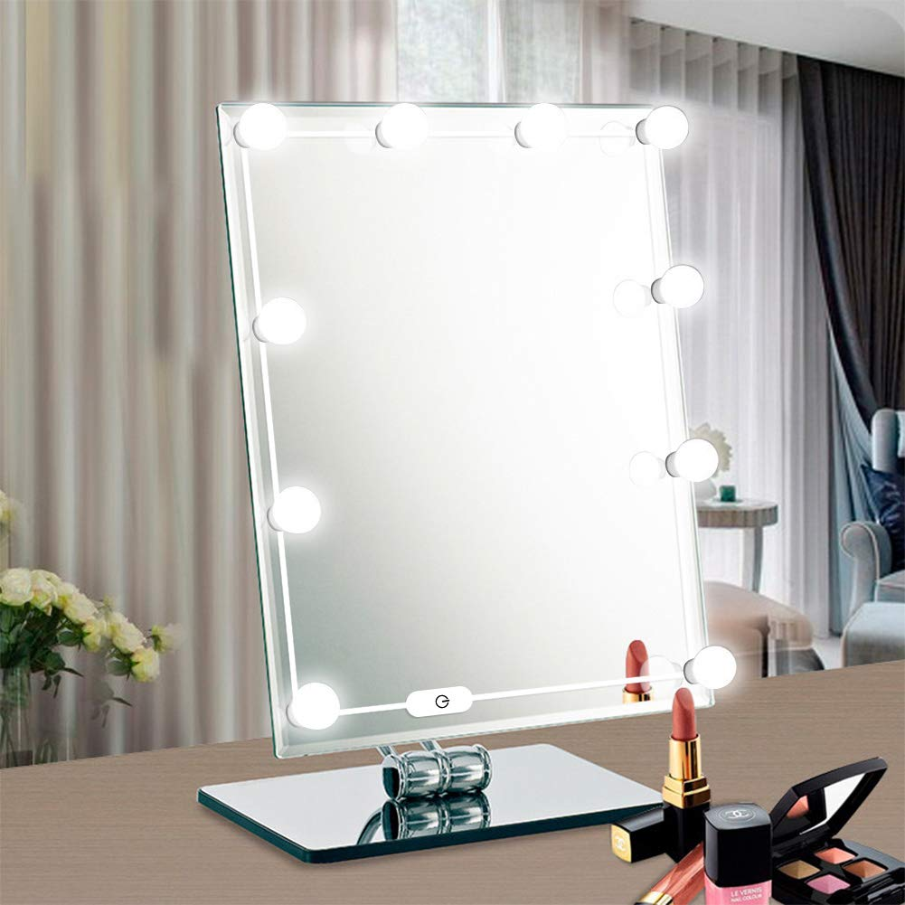 Eletorot LED Vanity Mirror lights Kits, LED Makeup Mirror Lights kit with Dimmable Bulbs for Makeup Vanity Table Set in Dressing Room