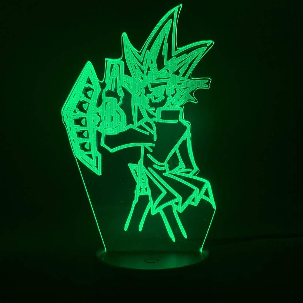 3d night light 3d Lamp Led Night Light Japanese Anime Yu Gi Oh Vrains Yugi Mutou Figure Cool Gift for Kids Child Bedroom Decorative Nightlight FFFPANDA