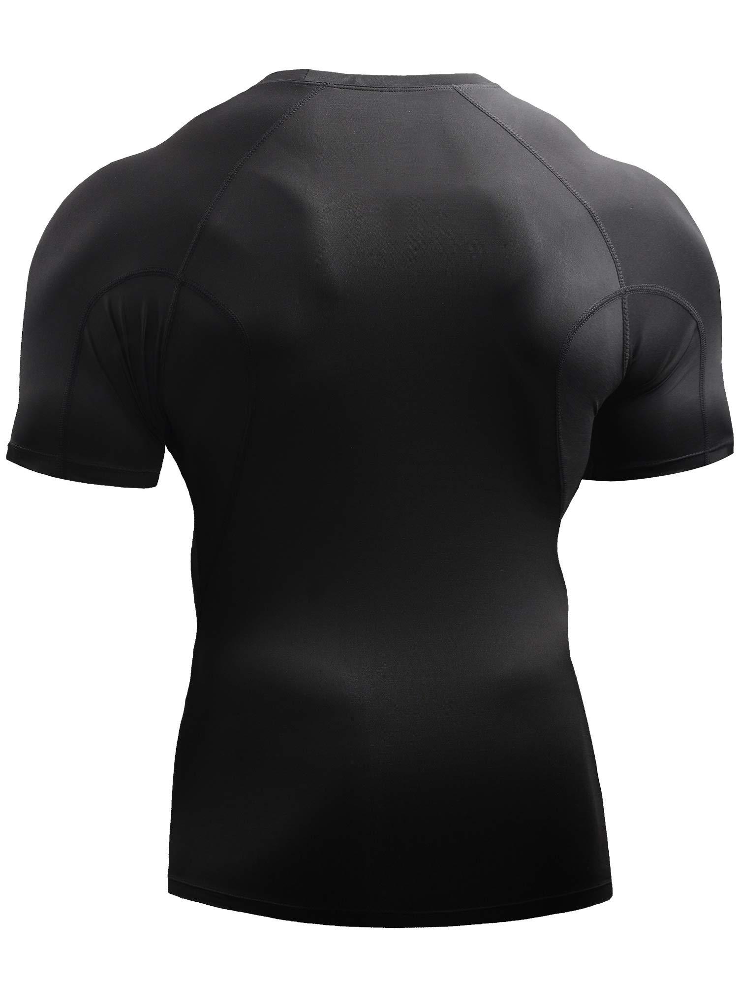 Neleus Men's 3 Pack Compression Baselayer Athletic Workout T Shirts,5022,Black,Black,Black,US S,EU M by Neleus (Image #7)