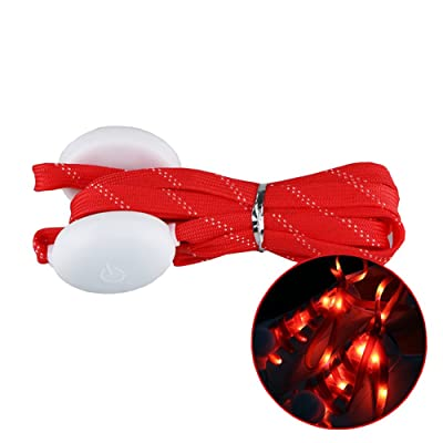 """43""""LED Light Up Shiny Shoelaces 3 Flashing Modes for Night Jogging Running Hip-hop Dancing Disco Party"""