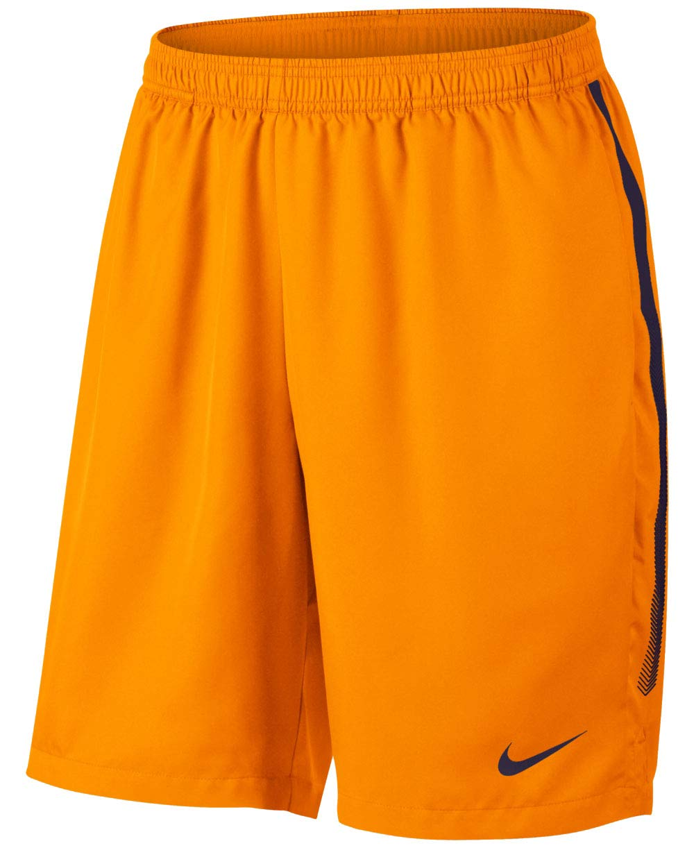 Nike Men's Court Dry 9'' Short (Orange Peel/Blackened Blue, Small)