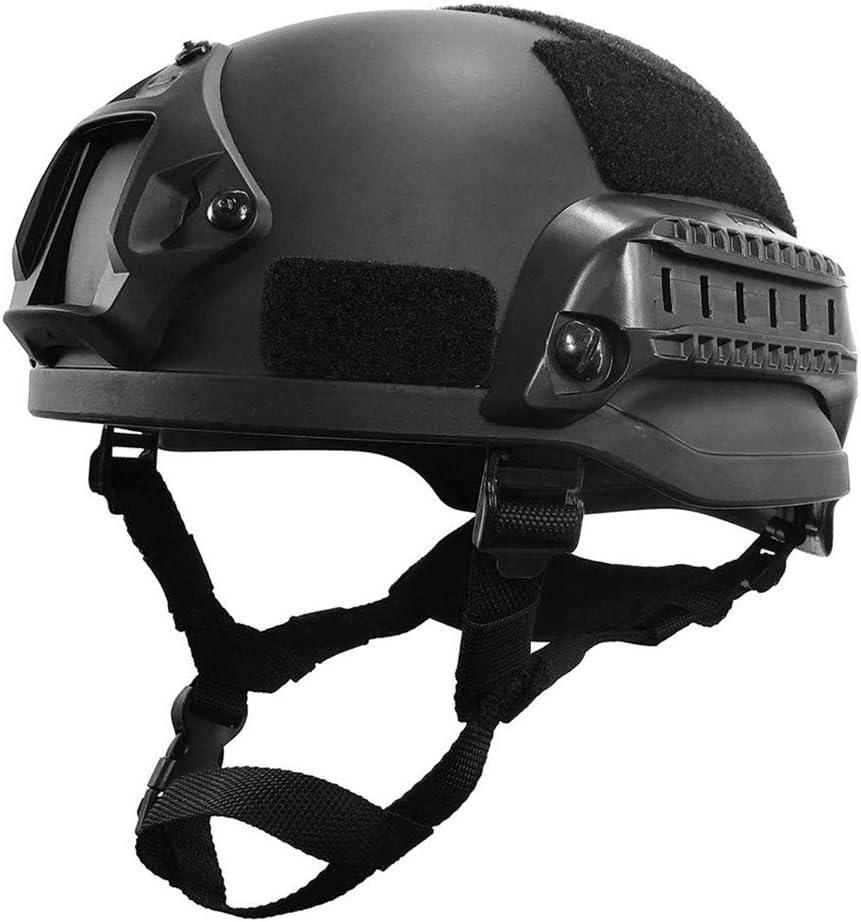 SummarLee Casco rápido táctico de protección de Seguridad Personal, Máscara de Casco CS Airsoft Paintball Riding CS, Casco Integral Ligero a Prueba de disturbios