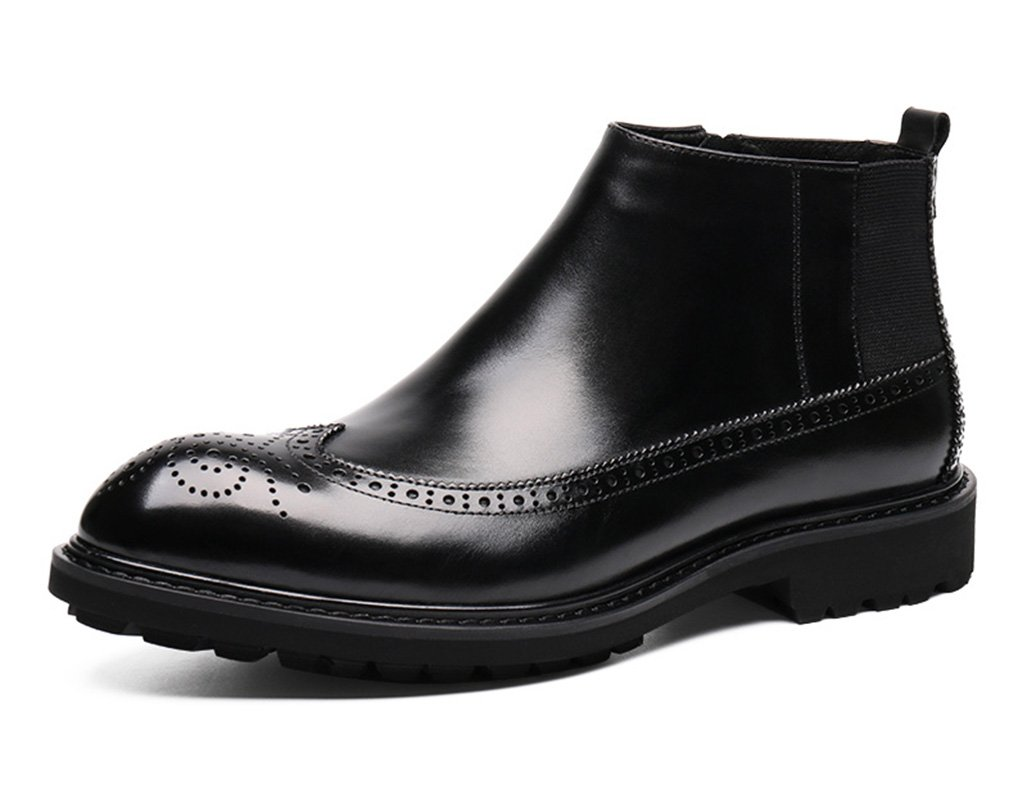 Zapatos Clásicos de Piel para Hombre Botas Martin botas de cuero estilo británico de los hombres de invierno botas de tacón alto zapatos de tacón alto ( Color : Negro , Tamaño : EU38/UK5.5 ) EU38/UK5.5|Negro