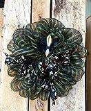 New Orleans Door Wreath, Saints Wreath, Black & Gold