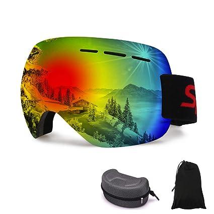 39c1f7e4107 Amazon.com   Aebitsry Ski Snowboard Goggles
