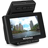 Vetomile PA1032-01 V1 Dash Cam 2.7' LCD Dashboard Camera, Full HD 1080P 170°Wide Angle with G-sensor, Loop Recording