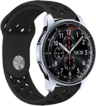 Veczom 22mm Band Compatible with Galaxy Watch 46mm, Samsung Gear S3 Frontier/S3 Classic, Huawei Watch 2 Classic, Quick Release Lightweight Silicone ...
