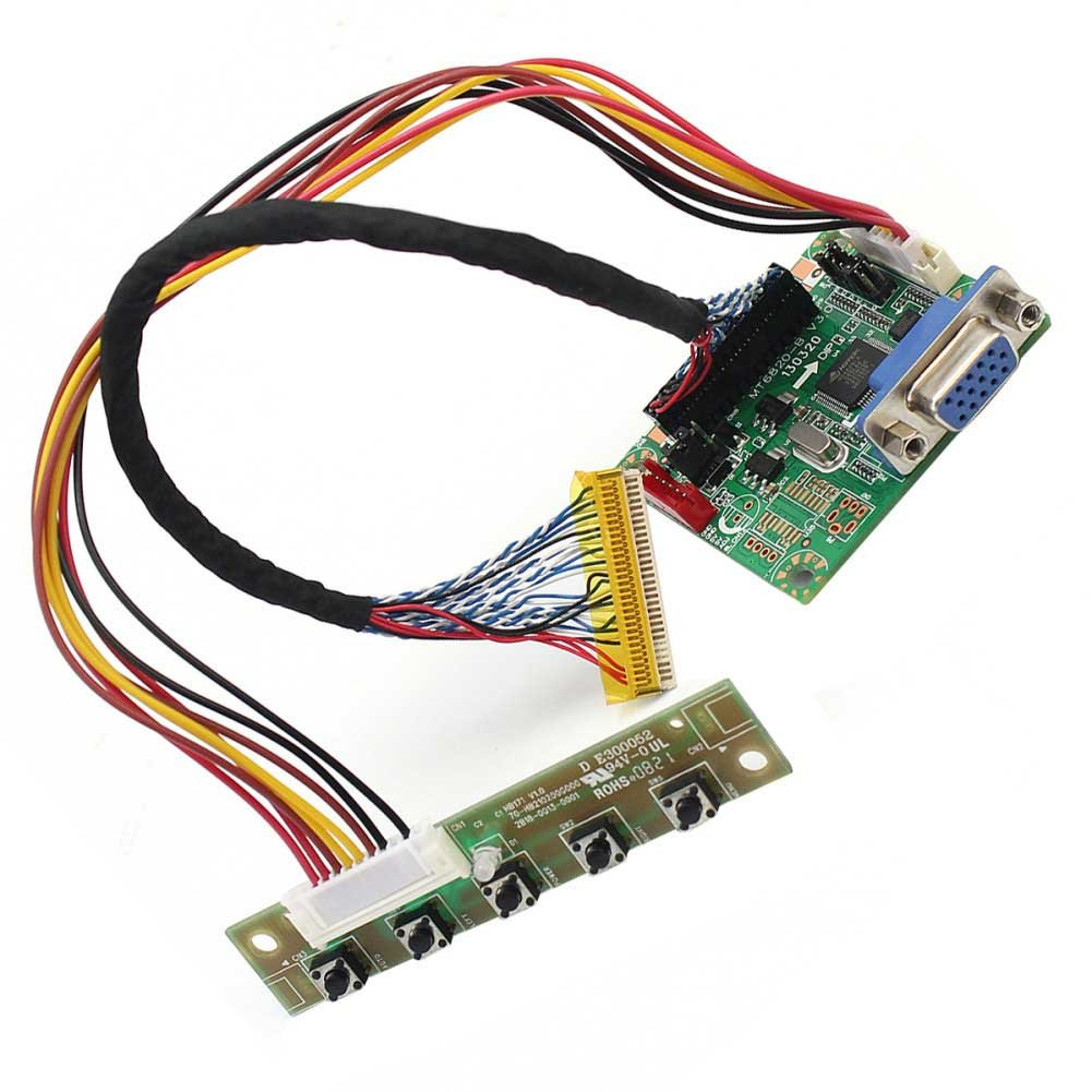 """DIY Universal MT6820-B LCD LVDS Driver Controller Board With Cable 17/"""" To 42/"""""""
