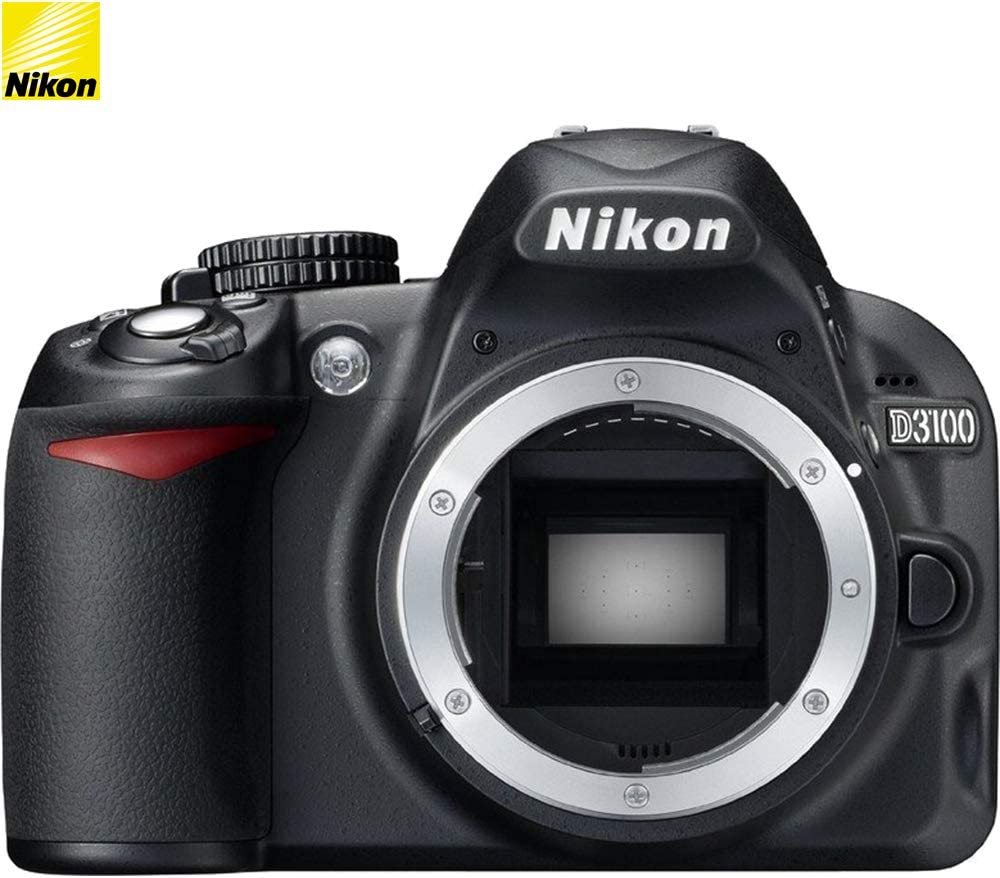 Nikon D3100 14.2MP DX-Format DSLR Digital Camera (Body Only) (25470B) - (Black) - (Renewed)