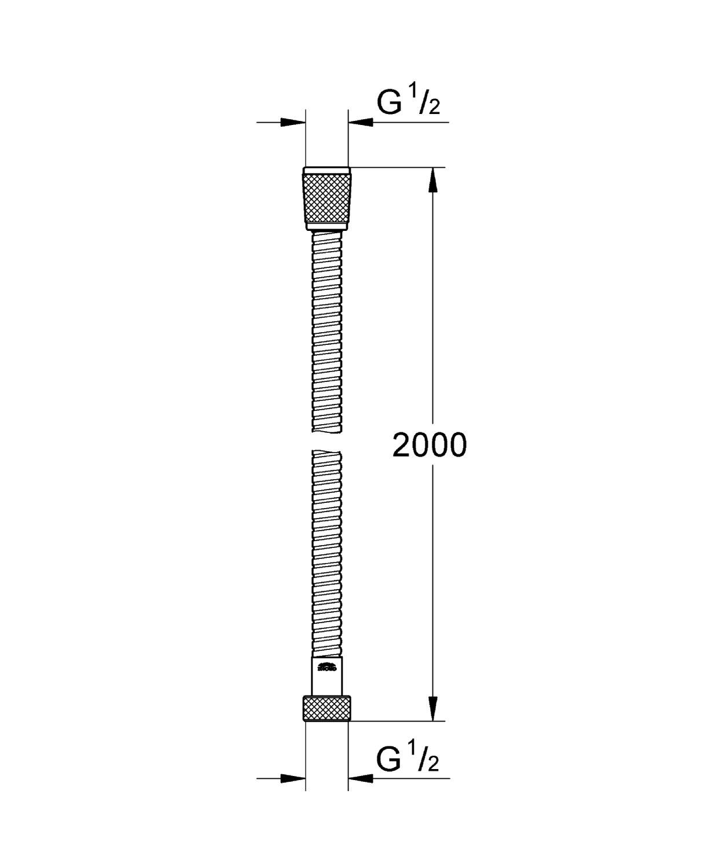Grohe Flexo Relexaflex de 2 m 28155 000 color plata Ref
