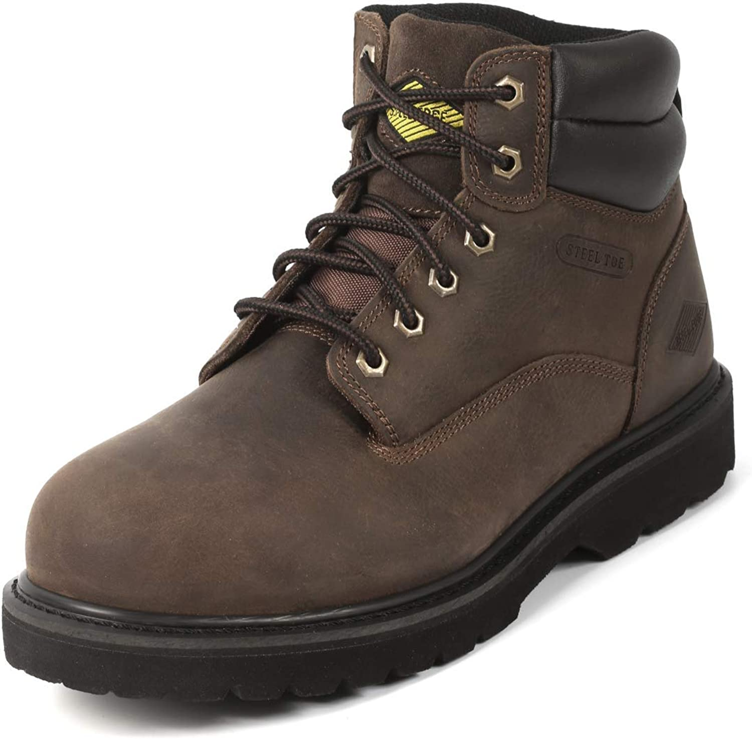6 Inch Non Slip Steel Toe Work Boots for Men