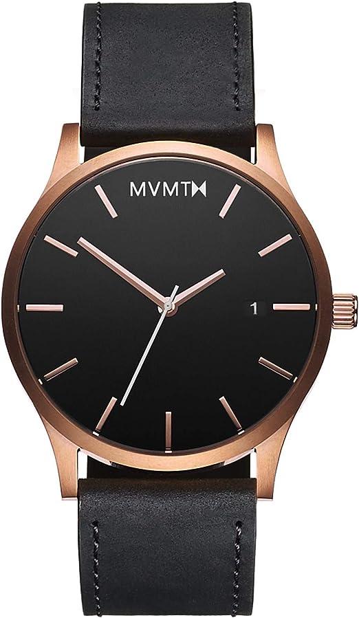 Amazon.com: MVMT Men's Minimalist Vintage Watch with Analog Date | Rose  Gold Black: Watches