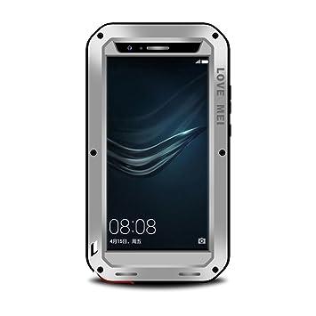 LOVE MEI Huawei P9 Plus Shockproof Funda, Metal Aluminio ...