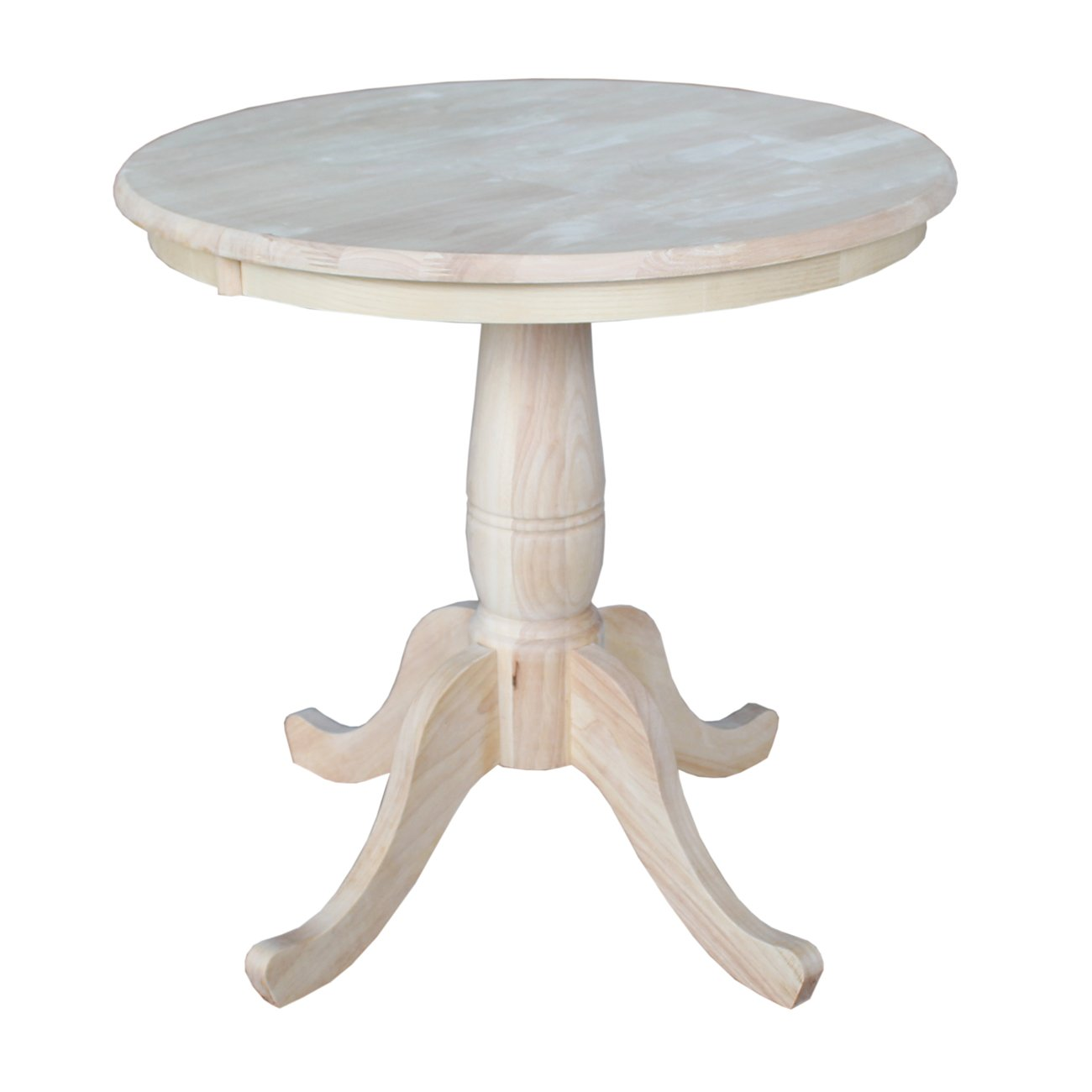 Standard Dining Room Table Dimensions Amazoncom International Concepts Round Top Adjustable Pedestal