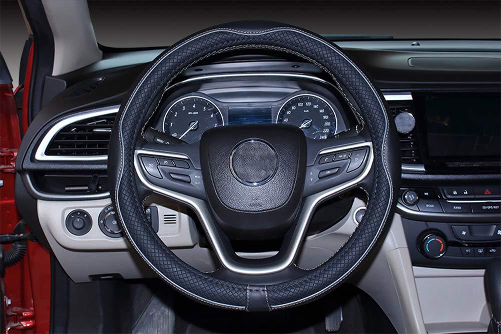 Istn Coprivolante per Auto in Pelle Microfibra 38 cm per la Maggior Parte delle Auto Nero Rosa