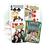 Flickback Media, Inc. 1954 Trivia Playing Cards: Happy 65th Birthday