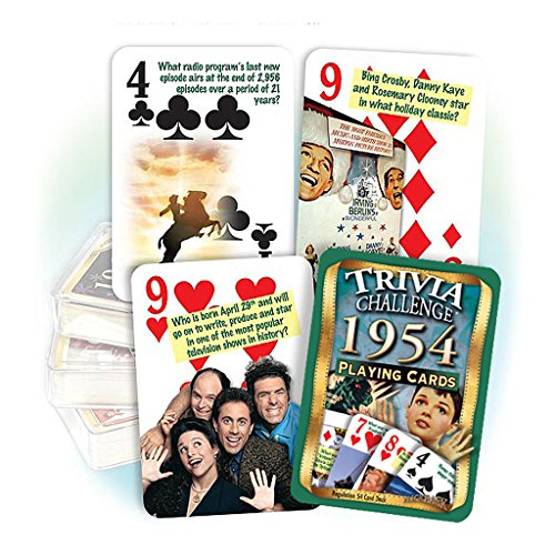 Flickback Media, Inc.. 1954 Trivia Playing Cards: Great Birthday or by Flickback Media, Inc.