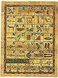 CraftsOfEgypt Set 10 Egyptian Papyrus Paper 4x6