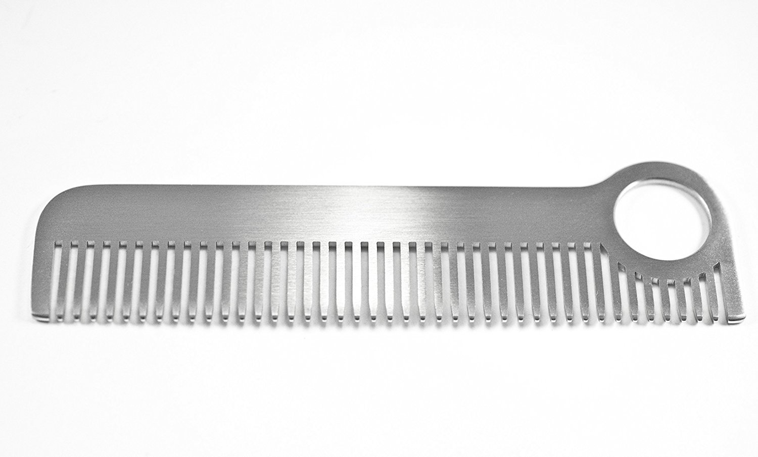 Gorgeous Brushed Matte Finish Solid Stainless Steel Medium Tooth ''Soho Comb'' by TravelMate