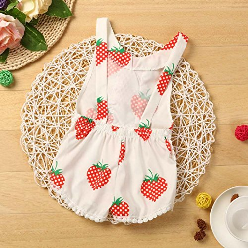 CocoMarket Baby Girls Strawberry Print Sleeveless Tassel