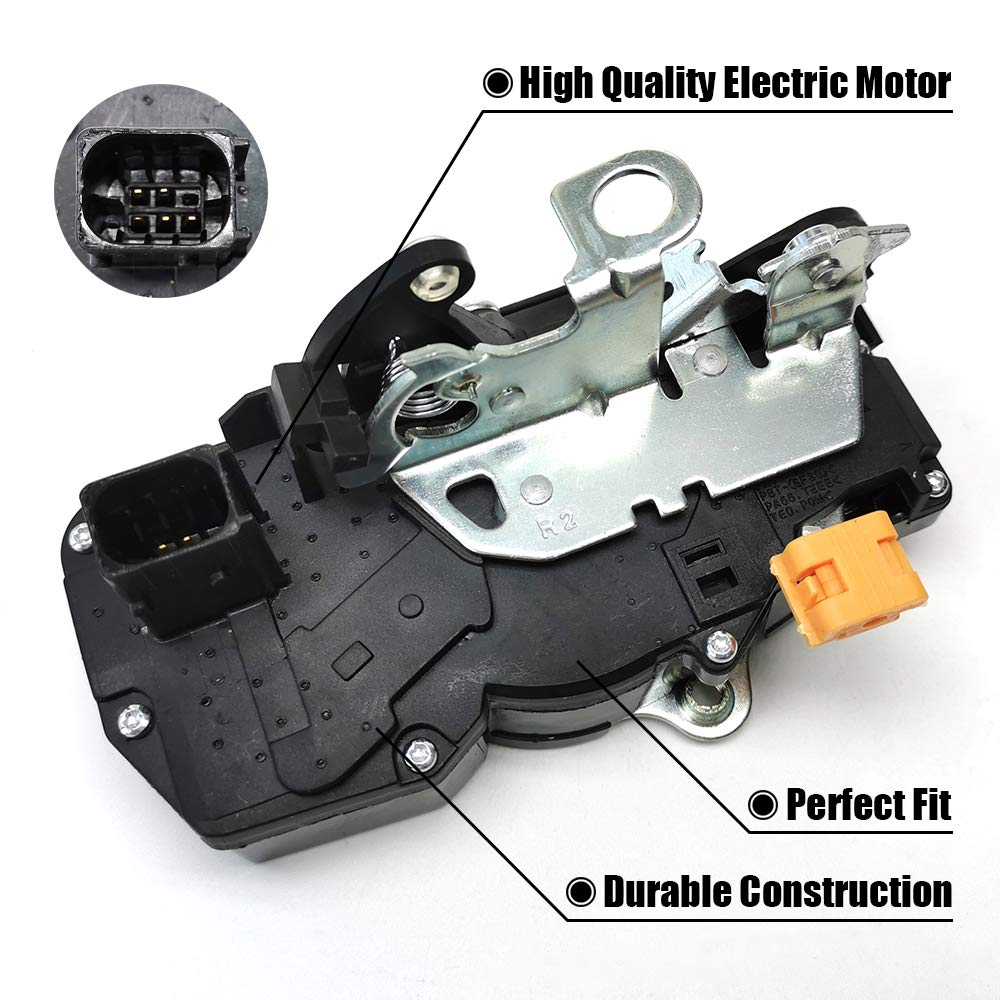 FEXON Door Latch Lock Actuator Motor Rear Left for 2007 2008 2009 GMC Yukon 07 08 09 Chevrolet Chevy Tahoe 2007-2009 Cadillac Escalade 15785128 15896626 20783857 931-108