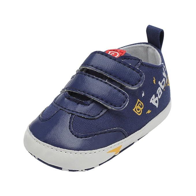 YanHoo Zapatos de bebé Infantiles Zapatos Casuales Cartas de Cuero Zapatillas de Deporte Zapatos de niño Zapatos de bebé Zapatos Inferiores Suaves ...
