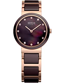 BERING Time 10729-765 Womens Ceramic Collection Watch with Stainless steel Band and scratch resistant