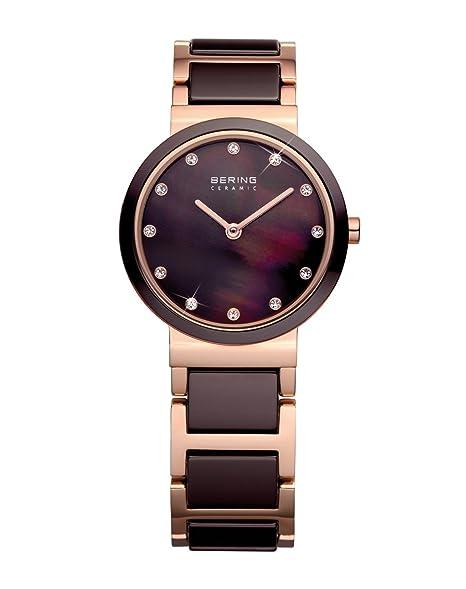 BERING Reloj Analógico para Mujer de Cuarzo con Correa en Acero Inoxidable 10729-765: Amazon.es: Relojes